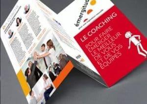 PLAQUETTE COMMERCIALE 3 VOLETS Entreprise de coaching à Laval