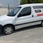 Garage de la Fontenelle - Domagné -marquage publicitaire véhicule - Doublevé agence de comunication