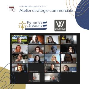 Wébinaire réalise pour Femmes de Bretagne sur la stratégie commerciale